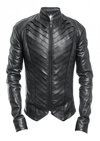 how to wear a leather jacket male