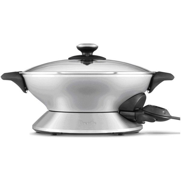 Breville BEW600XL Wok, 6 Qt. Electric ($130) ❤ liked on Polyvore featuring home, kitchen & dining, small appliances, no color, asian wok, kitchen electrics, breville, oriental wok and breville wok