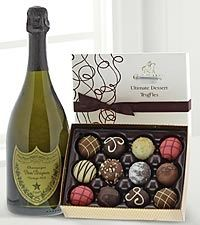 City Centre florist in Vancouver Canada offers Dom Perignon Champagne and Chocolate for local delivery in vancouver.