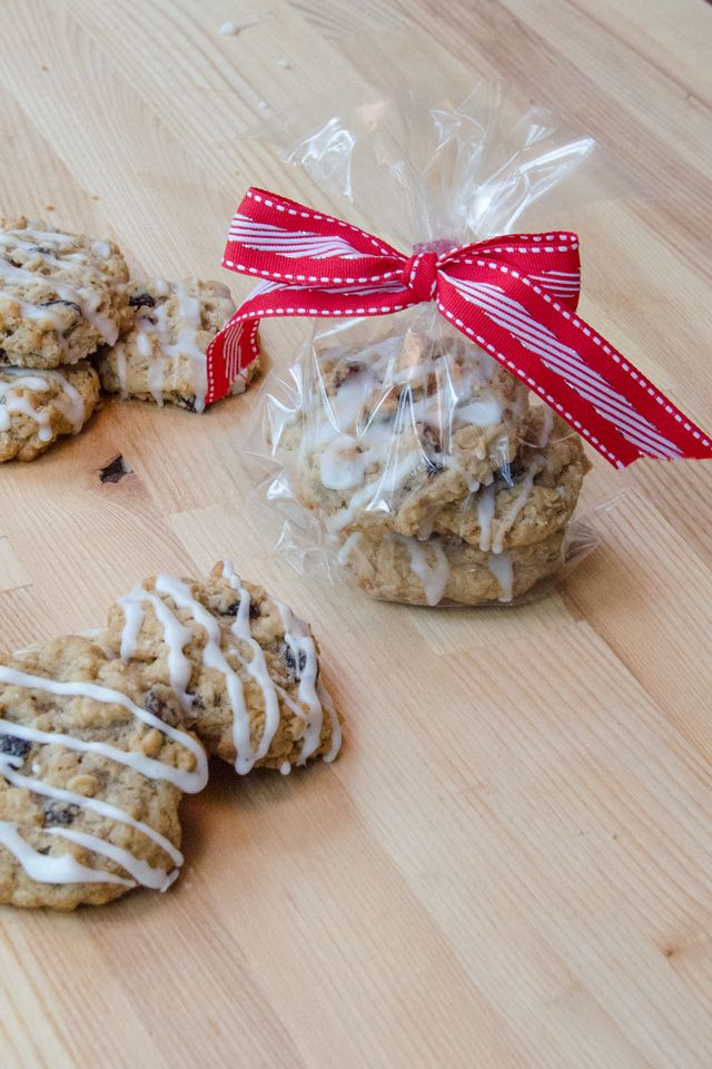 Iced Oatmeal Raisin Cookies Recipe Foodie Gift Giving Oatmeal