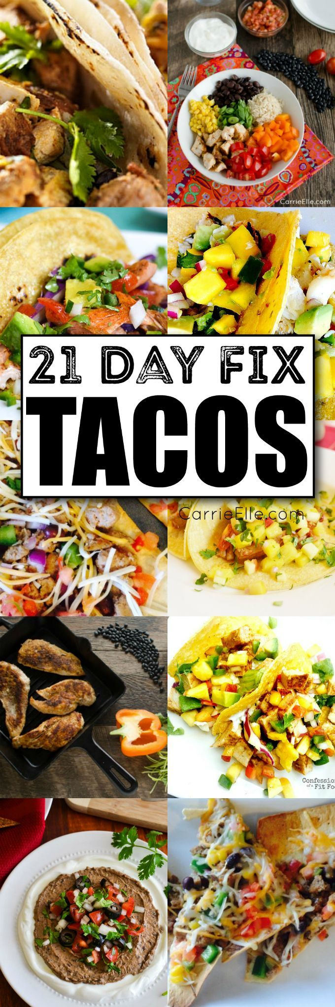 21 Day Fix Taco Recipes via @carrieelleblog