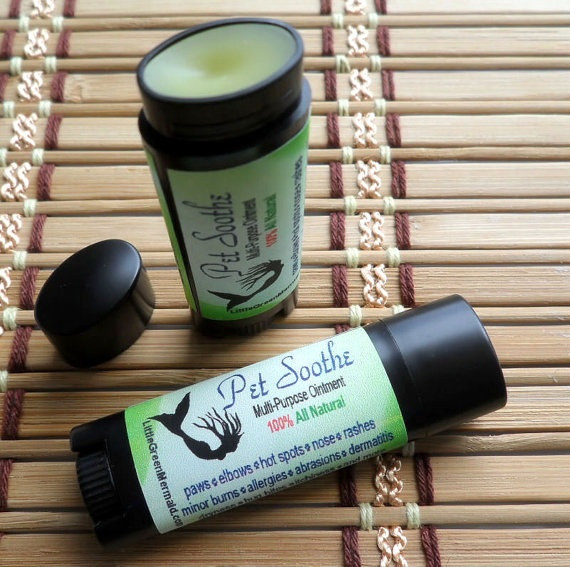 Pet soothe salve ointment Can benefit skin allergies