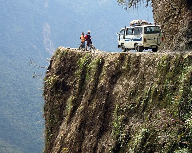 'Look Away Now' Hair Raising #SUV Footage On The World's Most Dangerous Road! Hit the pic to watch. 'We dare you!'