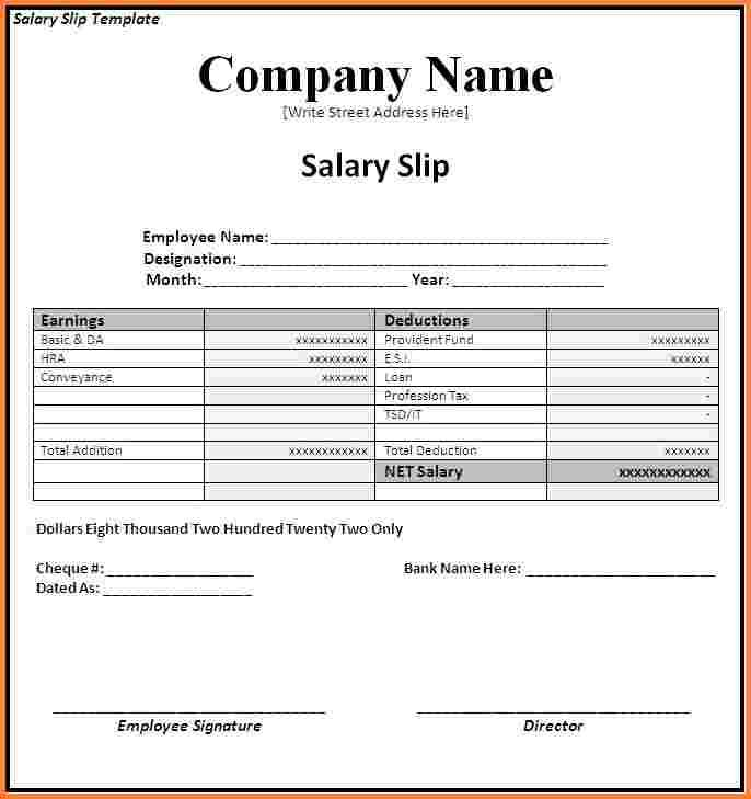 Image Result For Pay Slip Format Word Template Payroll Template