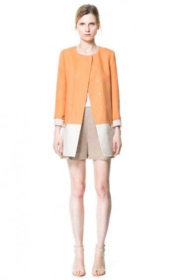 Fashion Orange Patchwork  Trench-$30.90FREE SHIPPING