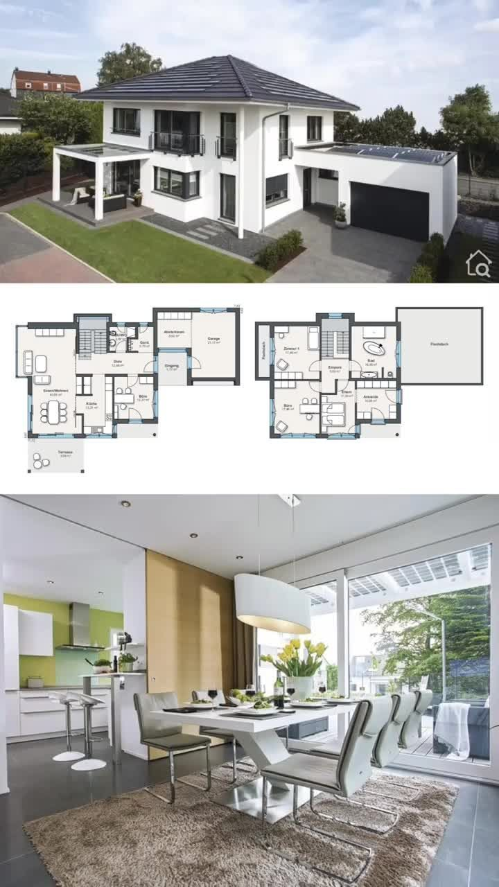 Two Floor House Plans 4 Bedroom And Garage Modern Contemporary Architecture Interi Interior Architecture Design House Architecture Design Architecture House
