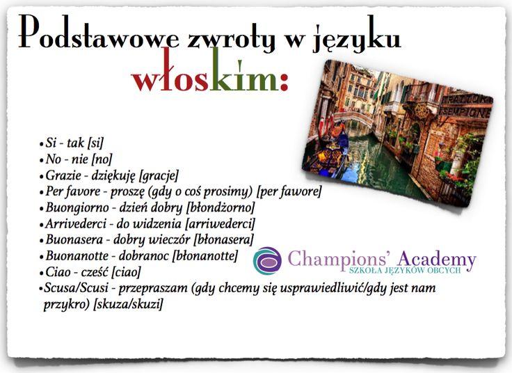 Jeśli szykujesz sięna wakacje we Włoszech zajrzyj tu:http://www.champions-academy.pl/blog/wlochy_ciekawostki_jezykowe#.WRRbX8mkKMI #języki #włoski #nauka #championsacademy