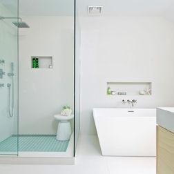 spot colour shower - Bathrooms