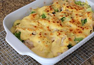 Chicken Divan Bake with Broccoli, Rice, and Cheddar Cheese: Chicken Divan With Broccoli and Rice
