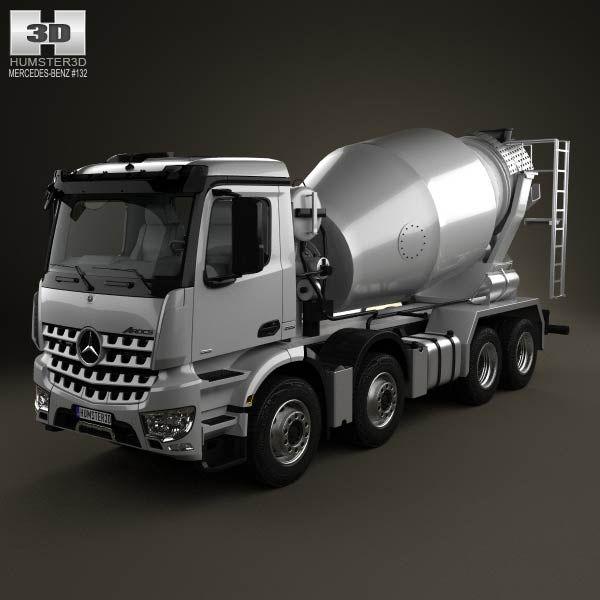 Mercedes-Benz Arocs Mixer Truck 2013 3d model from humster3d.com. Price: $75