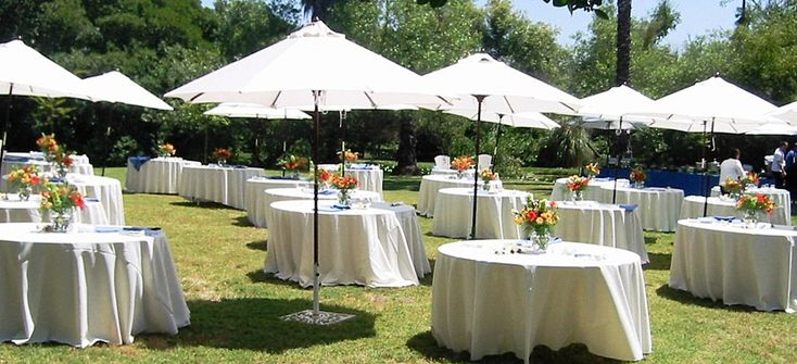 Outdoor Wedding Reception With Umbrellas Google Search