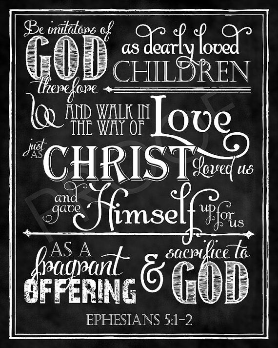 Scripture Art  Ephesians 512 Chalkboard by ToSuchAsTheseDesigns, $15.00