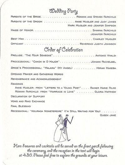 catholic wedding program templates on iyana s blog wedding