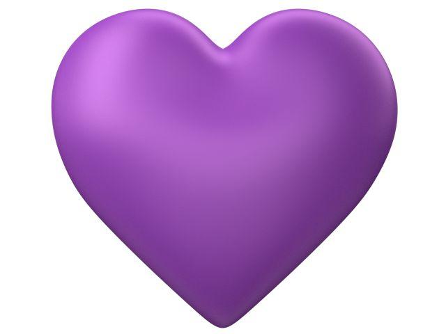 Purple Love Hearts | Purple 3d Love Heart with Transparent Background - Valentine Clip-art