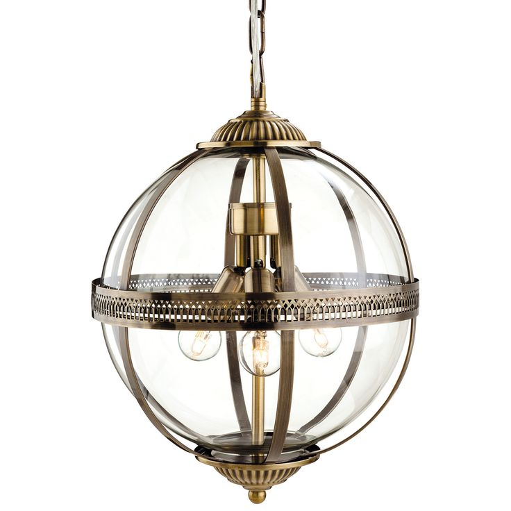 The Mayfair By Firstlight Is A Stunning Pendant Light Complete With Fixings And Accessories Designed Large Glass Orb Central Shade Antique