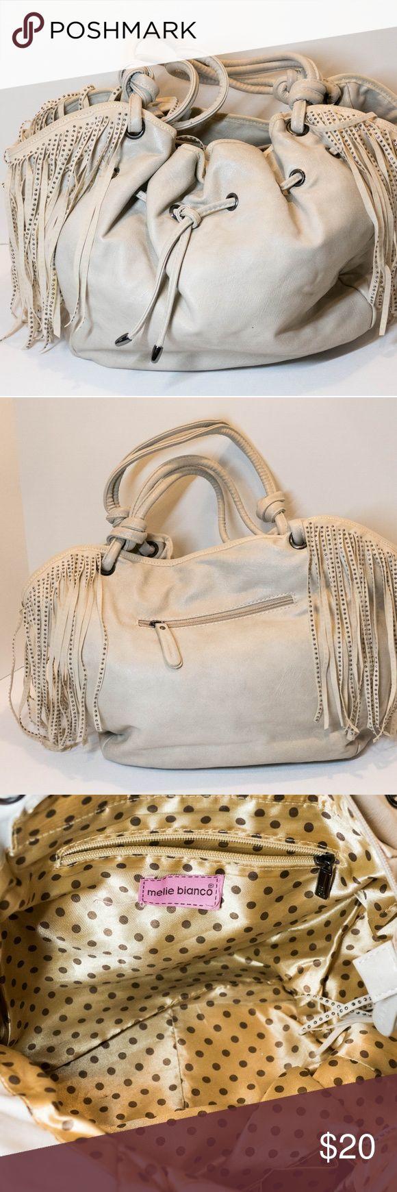 melie bianco Tassel Studded hobo bag cream melie bianco Tassel Studded hobo bag 12in x 6 x 11in Melie Bianco Bags Hobos