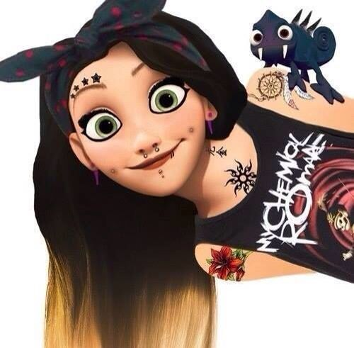 Disney punks want to be adopted this is Amy loves animals and red she is 14 power is to turn any one human