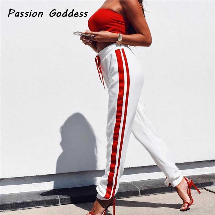 Sweatpants Women Drawstring Pants Joggers Casual Baggy Side Striped  Lady Trousers Pantalon Femme Luckly Red Camouflage Pantalon-in Pants & Capris from Women's Clothing & Accessories on Aliexpress.com | Alibaba Group