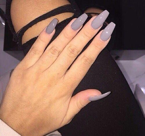 Best 25+ Grey acrylic nails ideas on Pinterest   Acrylic ...