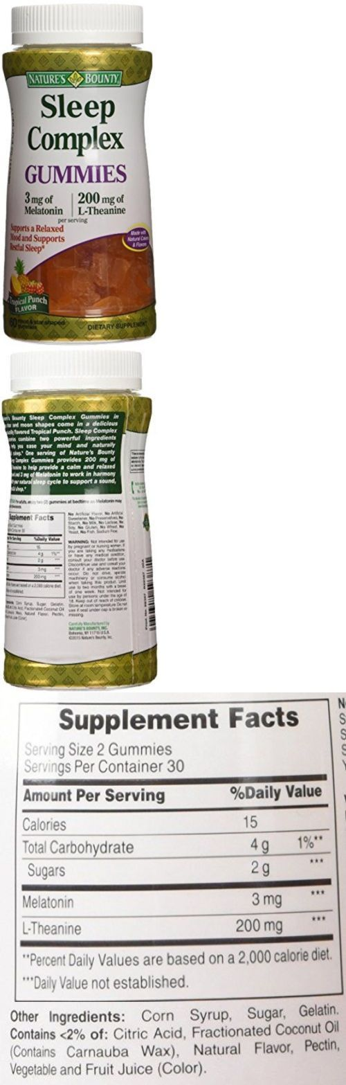 Sleeping Pills: Natures Bounty Sleep Complex 3 Mg Melatonin/200 Mg L-Theanine, 60 Gummies Of BUY IT NOW ONLY: $39.4