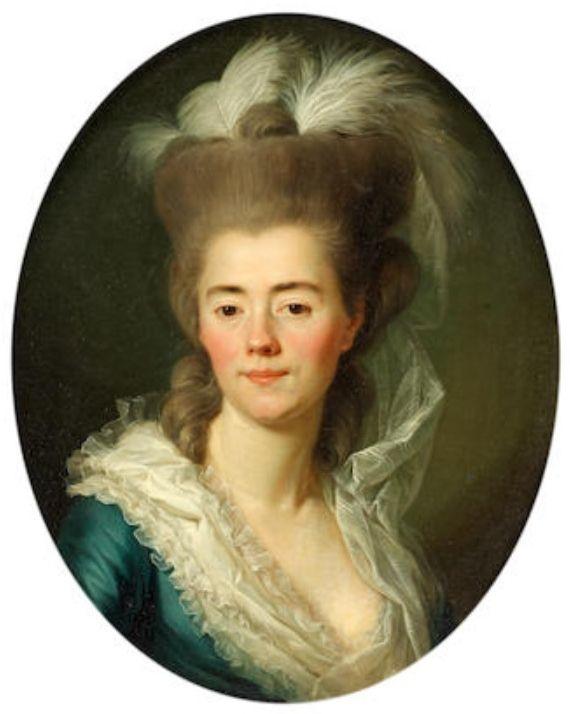 Rosalie Duthé by Antoine Vestier