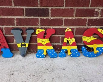 Marvel Superhero Letters Marvel Superhero custom by mamasfavthings