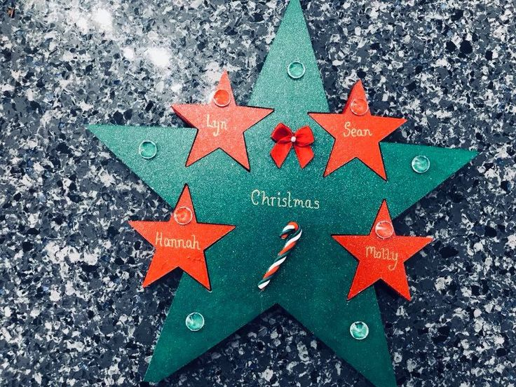 Excited to share the latest addition to my #etsy shop: Personalised Freestanding Christmas Family Star Decoration
