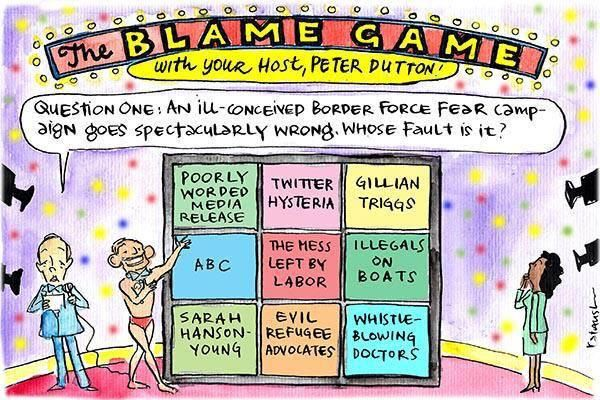 The Blame Game, hosted by @PeterDutton_MP. #auspol  via @sirhenrycasing & @TheMurdochTimes