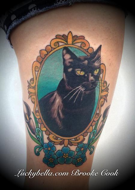 Brooke Cook - traditional cat portrait