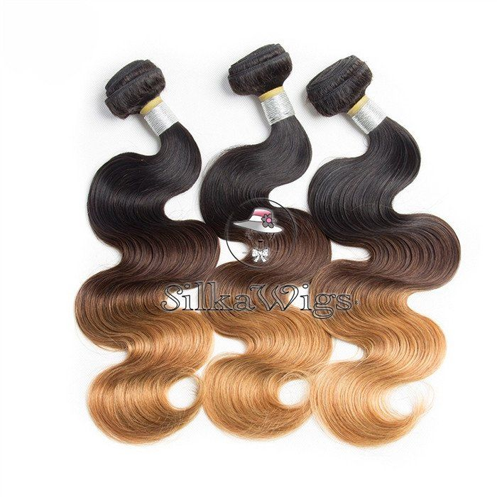 Ombre 1b/4/27 100% Brazilian Human Hair Weave