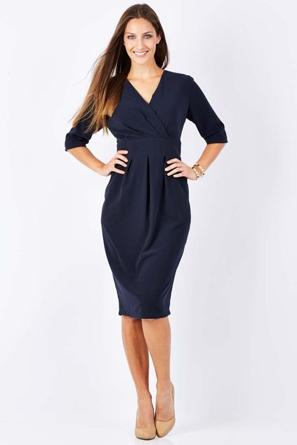 bird keepers The V Neck Tulip Dress - Womens Knee Length Dresses - Birdsnest Online Fashion