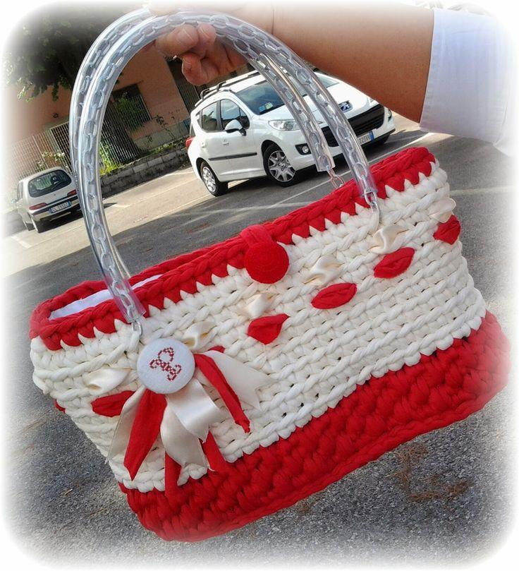 borsetta vintage crochet fettuccia