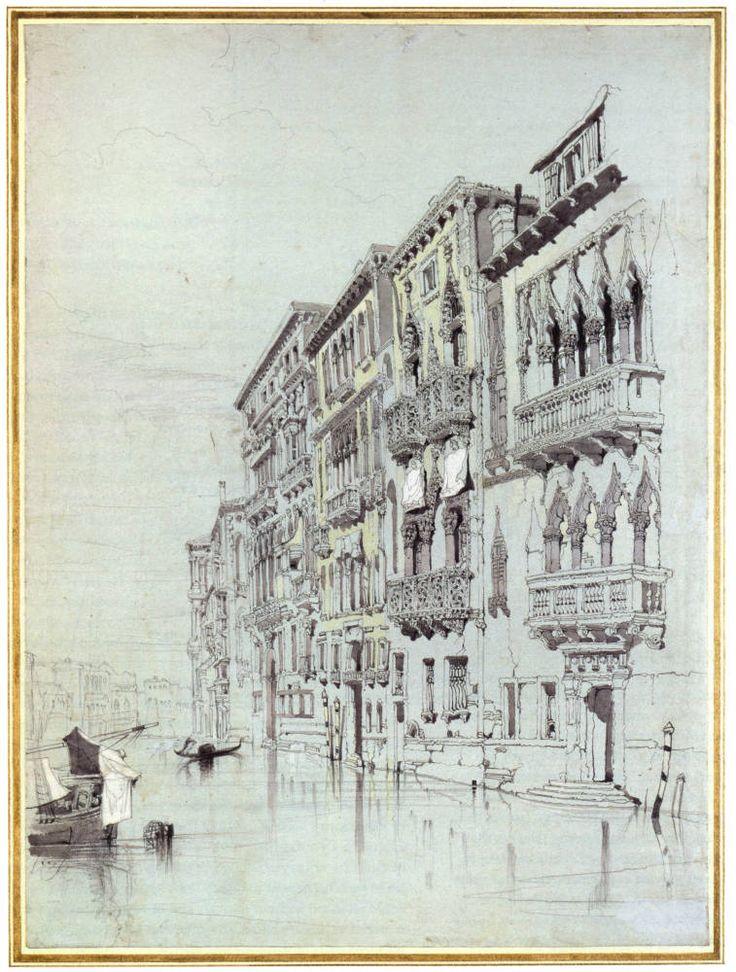 ruskin | Left: The Ca d'Oro in 1845 . Right: Casa Contarini Fasan, Venice by ...