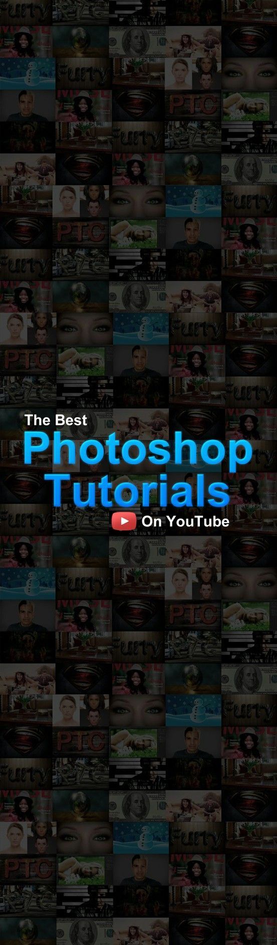 "Photoshop Video Tutorials on YouTube  --  You'll have to determine for yourself if they're the ""best."""