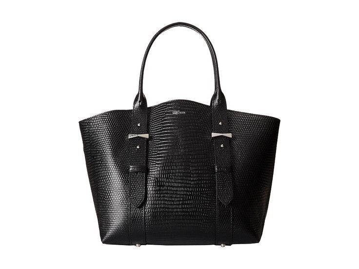 Image of Alexander McQueen - Legend Small Shopper (Black) Tote Handbags