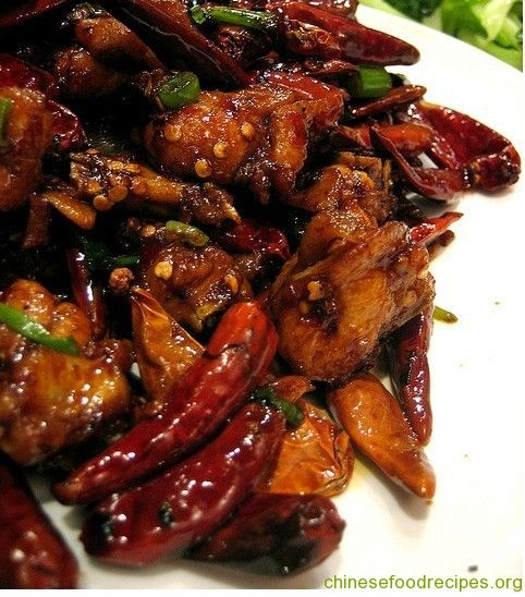 Chongqing Spicy Chicken. Since Chongqing was formerly a part of Sichuan province, its cuisine is similar and many foods considered Sichuanese are actually from Chongqing. This dish is very similar to Kung Pao Chicken