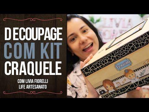 DIY | Faça Você Mesmo | Decoupage com Guardanapo |Livia Fiorelli | Life Artesanato - YouTube