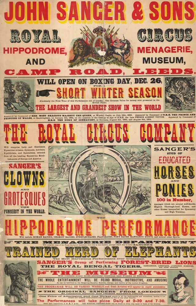 Flyer Goodness: Vintage Circus Posters and Flyers from the Leeds Playbill Archive