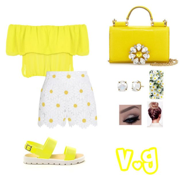 """""""Untitled #180"""" by vgchanel ❤ liked on Polyvore featuring WearAll, Dolce&Gabbana, Irene Neuwirth and Kate Spade"""
