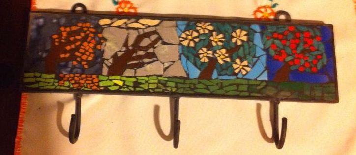 Las cuatro estaciones, mosaic coat rack hooks..love it!