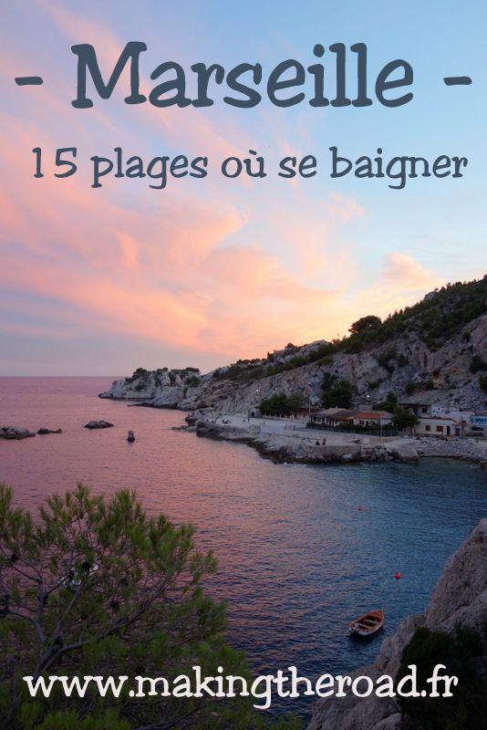 15 plages ou se baigner à Marseille, une suggestion de lieux près ou proche du centre ville pour se rafraîchir ou y passer la journée .