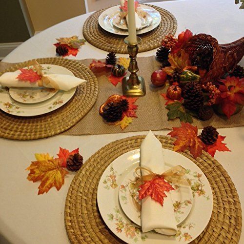 Thanksgiving Tablecloth Napkins And Decorative Setting 90 Inch Round Ivory  Linens *** You Can Get Additional Details At The Image Link.