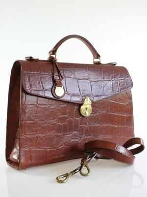 Mulberry Chestnut Congo Leather Briefcase