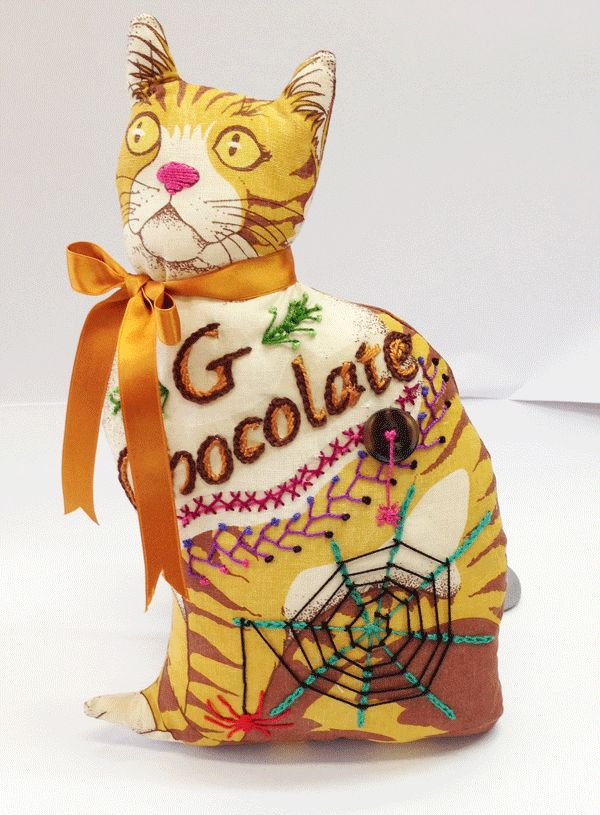 Chocolate Gables Quilt Halloween Cat