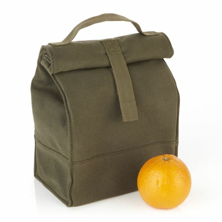finally a manly lunch bag Canvas Lunch Tote | Crate and Barrel
