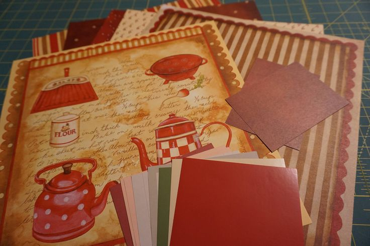 These pages are ready to use. Add your photos, notes, family recipes and memorabilia. Your purchase includes: OOAK Little Red Kettle 12 x 12 Six Page Set with Photo Mats and Journaling Boxes 6 pages 4 photo mats 5x7 2 mini photo mats 4.5x3.5 4 journaling boxes 5x7