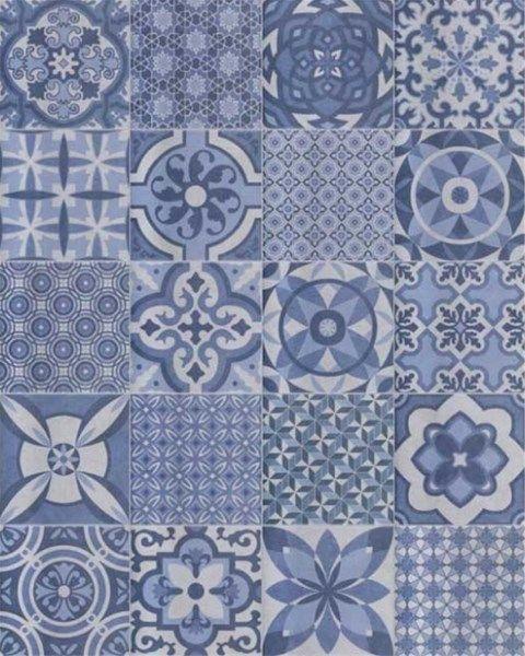 Vintage95 Mix Azul 25x25x1