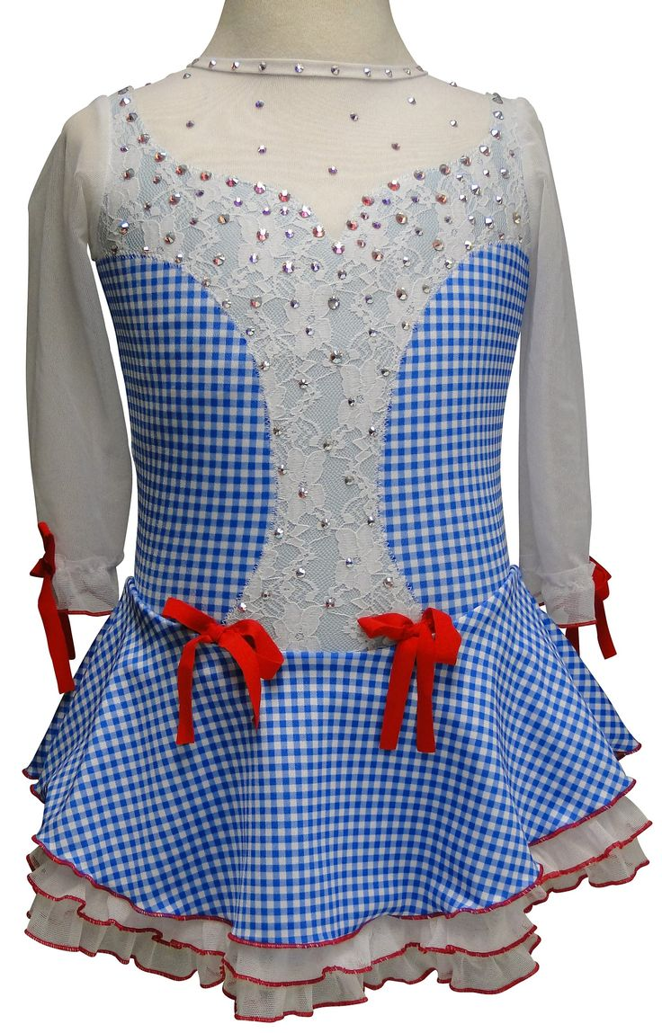 www.sk8gr8designs.com Skate like you're Dorothy from the Wizard of Oz in your new custom figure skating dress!
