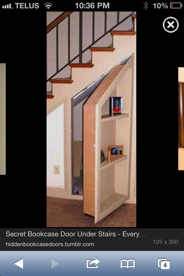 Under The Stairs Storage Door Stairs Bookcase Door