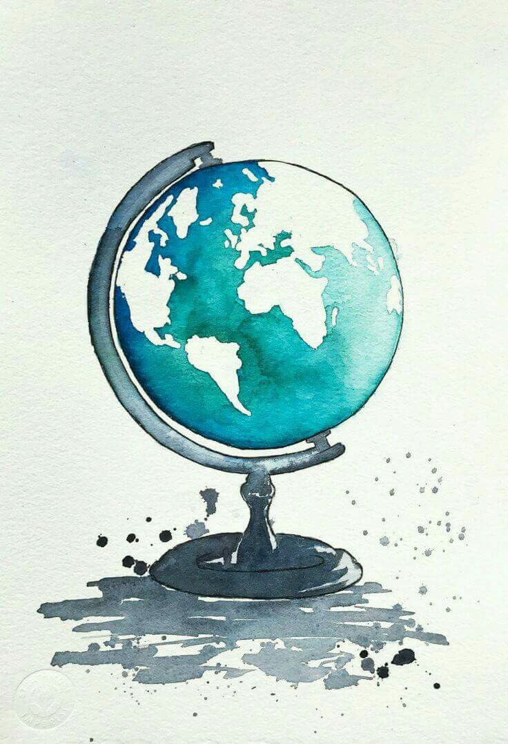 A simple relaxing watercolour drawing.